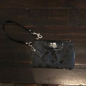 Coach Black Wristlet Wallet